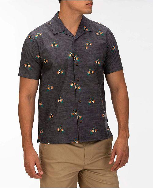 Hurley Men's Canopy Classic-Fit Tropical-Print Camp Shirt