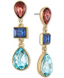 RACHEL Rachel Roy Gold-Tone Multi-Stone Drop Earrings