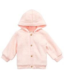 Baby Girls Faux-Fur Hooded Cardigan, Created for Macy's