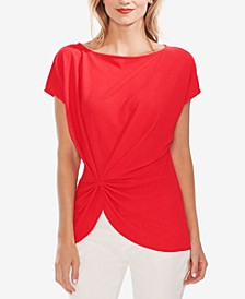 Boat-Neck Side Cinched Top