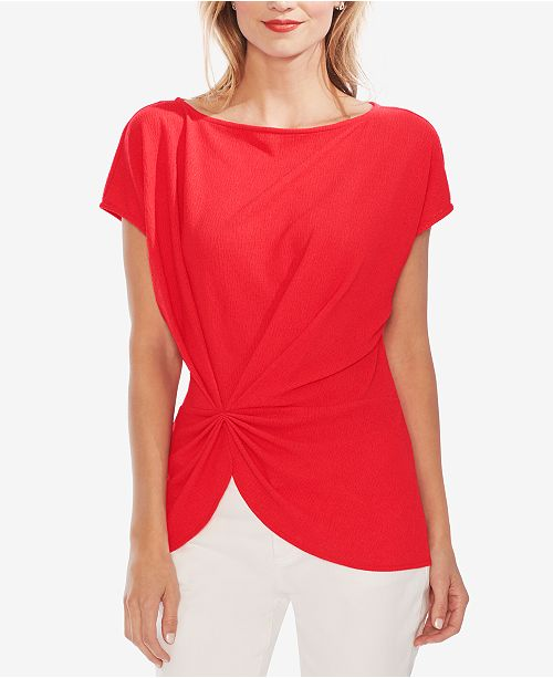 Vince Camuto Boat-Neck Side Cinched Top