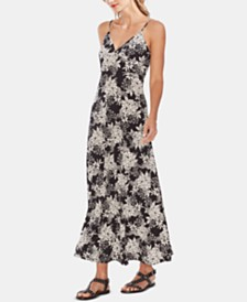 Vince Camuto Floral-Print V-Neck Maxi Dress