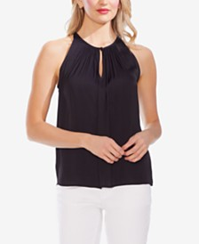 Vince Camuto Keyhole Halter-Neck Top