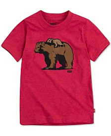Levi's® DADDY & ME COLLECTION Little Boys Papa Bear & Little Bear Graphic T-Shirt