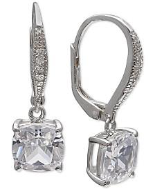 Giani Bernini Cubic Zirconia Drop Earrings in Sterling Silver, Created for Macy's