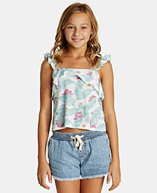 Big Girls Ruffled Floral-Print Top