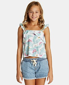 Billabong Big Girls Ruffled Floral-Print Top