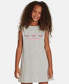Big Girls Striped Watermelon Dress