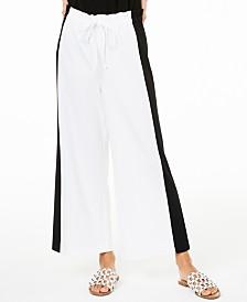 Bar III Colorblocked Wide-Leg Pants, Created for Macy's