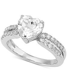 Arabella Swarovski Zirconia Heart Ring in Sterling Silver