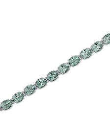 Green Quartz (32 ct. t.w.) & White Topaz (1/2 ct. t.w.) Bracelet in Sterling Silver