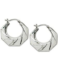 Giani Bernini Geometric Hoop Earrings in Sterling Silver, Created for Macy's