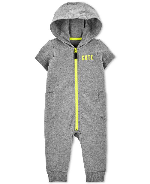 Carter's Baby Boys Cute Hooded Cotton Coverall