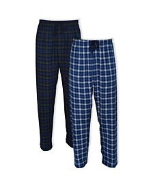 Hanes Men's Big and Tall Flannel Sleep Pant, 2 Pack