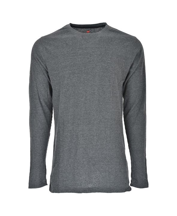 Hanes Platinum Hanes Men's Big and Tall Sueded Mini Waffle Crew