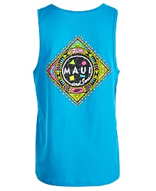 Maui & Sons Men's Real Pure Graphic-Print Tank Top