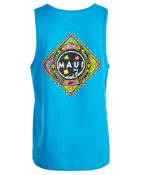 Maui and Sons Maui & Sons Men's Real Pure Graphic-Print Tank Top