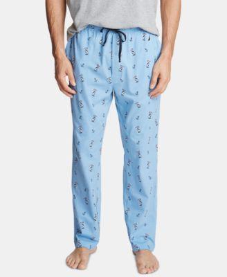 Blue//Grey Nautica Mens Size Medium Fleece Pajama Pants