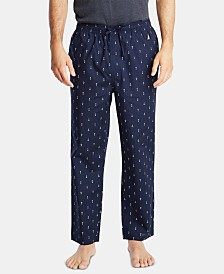 Nautica Men's Cotton Anchor-Print Pajama Pants