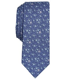 Men's London Floral Skinny Tie