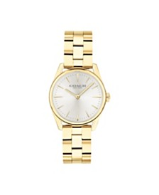 Coach Women's Preston Ion Plated Gold Bracelet Watch, 28MM