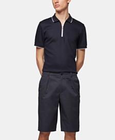 BOSS Men's Kirio-Short-Pleats-P Relaxed-Fit Gabardine Shorts