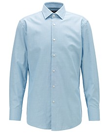 BOSS Men's Marley US Slim-Fit Micro-Structure Cotton Shirt