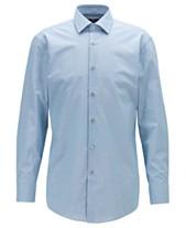 9fa2274853b2 BOSS Men's Marley US Slim-Fit Micro-Patterned Cotton Shirt