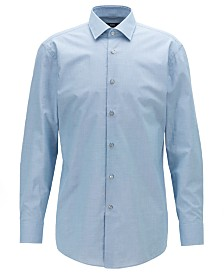 BOSS Men's Marley US Slim-Fit Micro-Patterned Cotton Shirt
