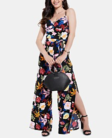 GUESS Tamiko Printed O-Ring Jumpsuit