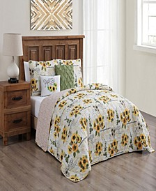 Yara 5-pc King Reversible Quilt Set