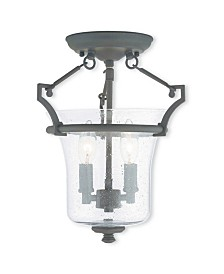 CLOSEOUT! Livex   Buchanan 2-Light Ceiling Mount