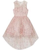 5d5f9ab937eb Rare Editions Big Girls Glitter High-Low Dress