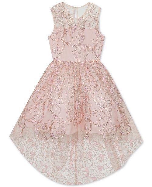 Rare Editions Big Girls Glitter High-Low Dress