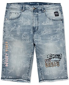Born Fly Big & Tall Men's Sahara Denim Shorts
