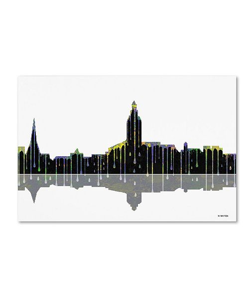 "Trademark Global Marlene Watson 'Annapolis Maryland Skyline' Canvas Art - 12"" x 19"""