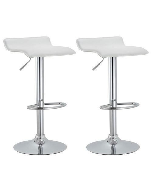 Fine Contoured Hydraulic Lift Chrome Base Bar Stool With Footrest Set Of 2 Camellatalisay Diy Chair Ideas Camellatalisaycom