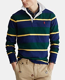 Men's Rustic Rugby Knit Classic Fit Polo Shirt