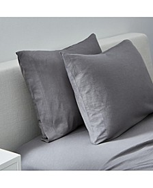 Slub Jersey Solid King Pillowcase Pair