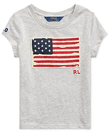 Little Girls Cotton Jersey Patriotic T-Shirt