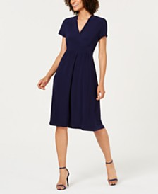 Anne Klein Faux-Wrap Shift Dress