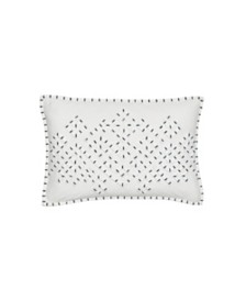 "Splendid Appliqued Jersey 12"" x 18"" Decorative Pillow"