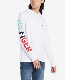 Tommy Hilfiger Men's Samuel Logo Graphic Hooded T-Shirt