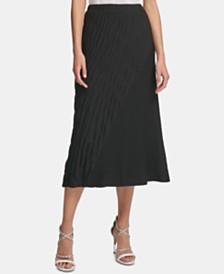 DKNY Textured Skirt