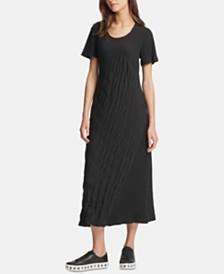 DKNY Textured Midi Dress
