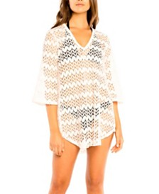 Jordan Taylor Alpine Bell Sleeve Tunic Cover up