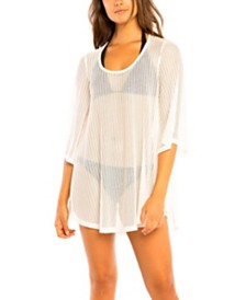 Jordan Taylor Chevron Scoop Neck Tunic Cover Up