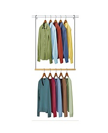 Lynk Double Hanging Closet Rod Organizer