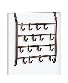 Over Door 16 Hook Organizer Rack