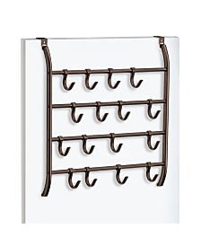 Lynk Over Door 16 Hook Organizer Rack